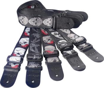 "Guitar strap pack incl. 20 woven nylon guitar straps with ""Skull"" patt (ST-SPACK SK)"