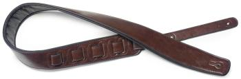 Brown padded leatherette guitar strap (ST-SPFL 30 BRW)