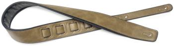 Copper-coloured padded leatherette guitar strap (ST-SPFL 30 COP)