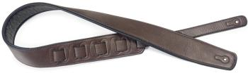 Dark brown padded leatherette guitar strap (ST-SPFL 30 DBRW)