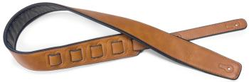 Honey-coloured padded leatherette guitar strap (ST-SPFL 30 HON)