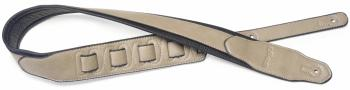 Beige padded leatherette guitar strap with a triangular end (ST-SPFL 40 BEI)