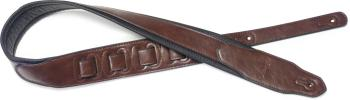 Brown padded leatherette guitar strap with a triangular end (ST-SPFL 40 BRW)