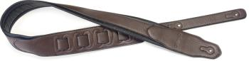 Dark brown padded leatherette guitar strap with a triangular end (ST-SPFL 40 DBRW)