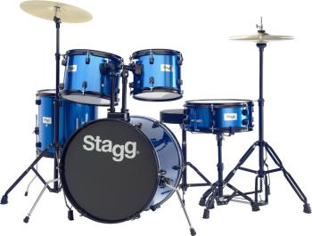 "5-piece, 6-ply basswood, 20"" standard drum set with hardware & cymbals (ST-TIM120B BL)"
