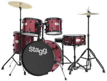 "5-piece, 6-ply basswood, 20"" standard drum set with hardware & cymbals (ST-TIM120B WR)"