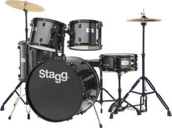 "5-piece, 6-ply basswood, 22"" standard drum set with hardware & cymbals (ST-TIM122B BK)"