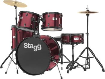 "5-piece, 6-ply basswood, 22"" standard drum set with hardware & cymbals (ST-TIM122B WR)"