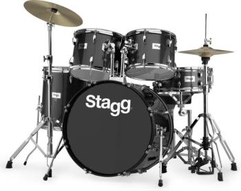 "5-piece, 6-ply basswood, 22"" standard drum set with hardware & cymbals (ST-TIM322B SPBK)"