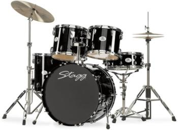 "5-piece, 6-ply lacquered basswood, 22"" Standard drum set with Remo hea (ST-TIM622L BK)"