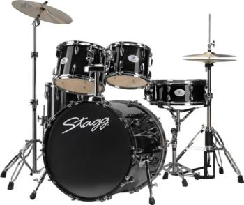 "5-piece, 6-ply lacquered basswood, 22"" Fusion drum set with Remo heads (ST-TIM622LF BK)"