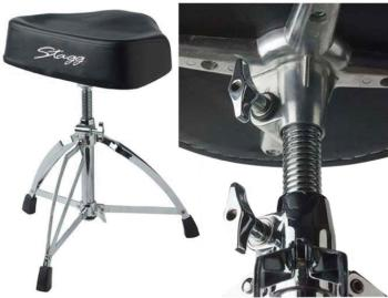 Double braced Professional drum throne, with saddle (ST-DT-220RM)