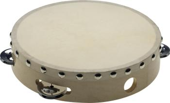 "8"" Pretuned wooden tambourine with rivetted head - 1 row of jingles (ST-STA-1108)"