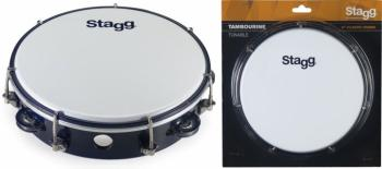 "8"" Tuneable plastic tambourine with 1 row of jingles (ST-TAB-108P/BK)"