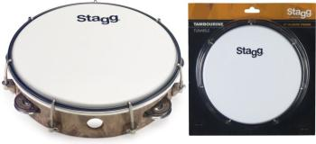 "8"" Tuneable plastic tambourine with 1 row of jingles (ST-TAB-108P/WD)"
