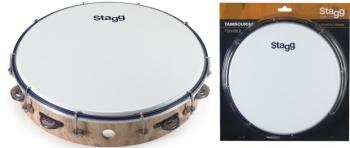 "12"" Tuneable plastic tambourine with 1 row of jingles (ST-TAB-112P/WD)"