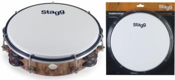 "8"" Tuneable plastic tambourine with 2 rows of jingles (ST-TAB-208P/WD)"