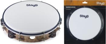 "10"" Tuneable plastic tambourine with 2 rows of jingles (ST-TAB-210P/WD)"