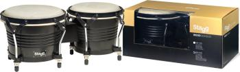 "7.5"" and 6.5"" black Latin wood bongos (ST-BW-200-BK)"