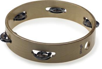 "8"" Headless wooden tambourine - 1 row of jingles (ST-STA-3108)"
