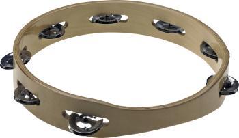 "10"" Headless wooden tambourine - 1 row of jingles (ST-STA-3110)"