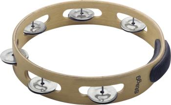 "10"" Headless wooden tambourine with 1 row of jingles (ST-TAW-101)"