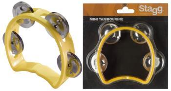 Plastic cutaway mini tambourine with 4 jingles (ST-TAB-MINI/YW)