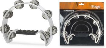 Cutaway plastic tambourine with 16 jingles (ST-TAB-2 WH)
