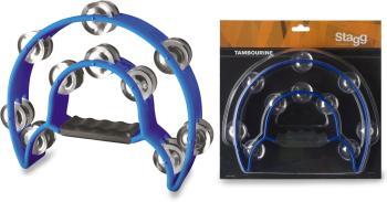 Cutaway plastic tambourine with 20 jingles (ST-TAB-1 BL)