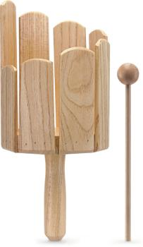 Multi-tone wooden tank with handle & beater - Small (ST-MTT-S)