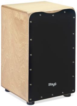 Medium-sized birch cajón with black front board finish (ST-CAJ-50M BK)