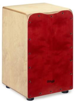 Medium-sized birch cajón with red front board finish (ST-CAJ-50M RD)