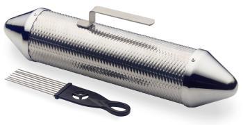 """15"""" metal guiro shaker, with scraper (ST-GUSM-15)"""