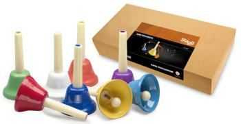 8-note handbell set (colour-coded) (ST-HB SET)
