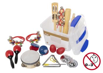 Children's percussion kit in transparent plastic box with sealable lid (ST-CPK-02)