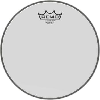 "10"" Ambassador Smooth White tom/ Snare head (RE-BA-0210-00)"
