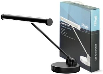 Black battery-powered or mains-operated LED piano or desk lamp (ST-SPLED 08-1 BK)