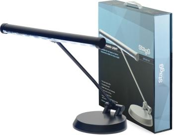 Black battery-powered or mains-operated LED piano or desk lamp (ST-SPLED 20-1 BK)