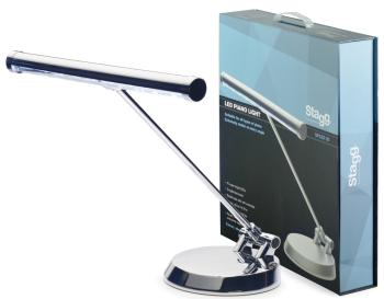 Chrome battery-powered or mains-operated LED piano or desk lamp (ST-SPLED 20-1 CR)