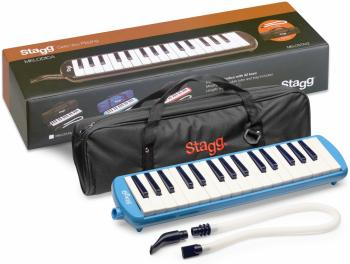 Blue plastic melodica with 32 keys and blue bag (ST-MELOSTA32 BL)