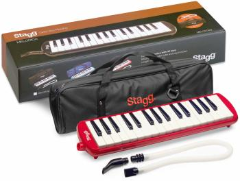 Red plastic melodica with 32 keys and black and red bag (ST-MELOSTA32 RD)