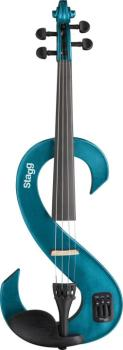 4/4 electric violin set with S-shaped metallic blue electric violin, s (ST-EVN 4/4 MBL)