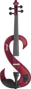 4/4 electric violin set with S-shaped metallic red electric violin, so (ST-EVN 4/4 MRD)