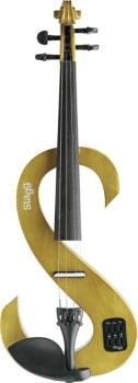 4/4 electric violin set with S-shaped honey-coloured electric violin, (ST-EVN 4/4 H)