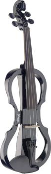 4/4 electric violin set with black electric violin, soft case and head (ST-EVN X-4/4 BK)