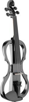 4/4 electric violin set with metallic black electric violin, soft case (ST-EVN X-4/4 MBK)