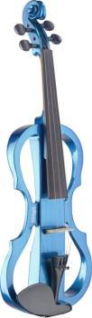 4/4 electric violin set with metallic blue electric violin, soft case (ST-EVN X-4/4 MBL)