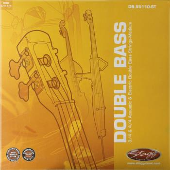 Set of strings for 3/4 and 4/4 acoustic and electric double bass (ST-DB-55110-ST)