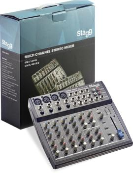 Multi-channel stereo mixer with 2-4 mono & 2-4 stereo input channels (ST-SMIX 4M4S US)