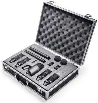 Drum microphone set with 7 microphones and 2 clamps (ST-DMS-5700H)